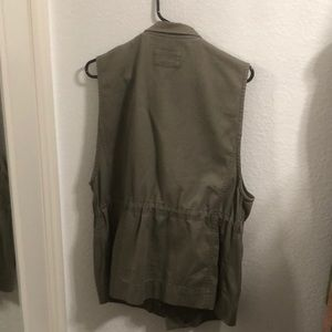 Club Monaco olive military vest
